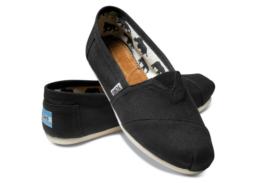 Classic Canvas Espadrilles In Black - Black Toms