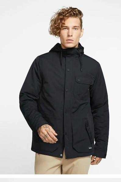on sale free delivery outlet store sale GUYS > Mens Tops > Mens Jackets > Hurley JACKET SLAMMER BLACK