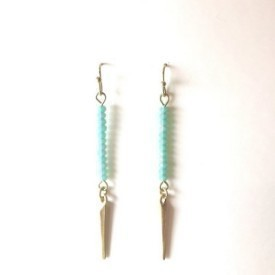 Beyou Slash Teal Earrings Thumbnail