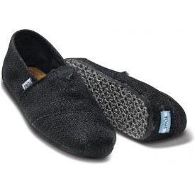 Toms Men Burlap Black Shoe Thumbnail