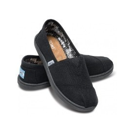 Toms Youth Classic Black Canvas Shoe Thumbnail