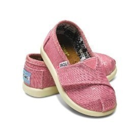 Toms Tiny Classic Pink Canvas Shoes Thumbnail