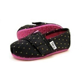 Toms Tiny Seasonal Gold Dot Shoe Thumbnail