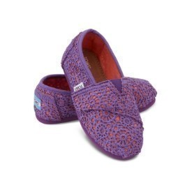 Toms Tiny Crochet Purple Orange Shoe Thumbnail