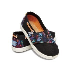 Toms Tiny Bimini Black Floral Block Shoe Thumbnail