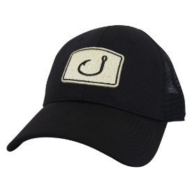 Avid Mens Touchdown Trucker Hat Black Gold Thumbnail