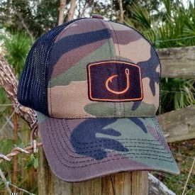 Avid Mens Camo Fishing Trucker Hat Thumbnail