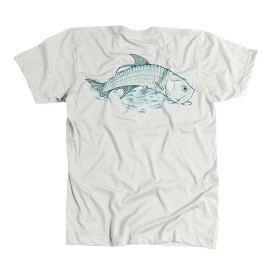 Avid Mens Tarpon Roll T-Shirt Grey Thumbnail