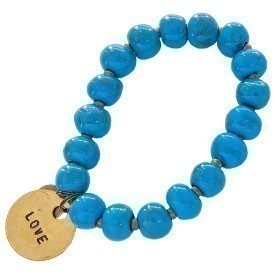 BRACELET 10MM LRG CHARM NBLUE Thumbnail