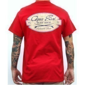 Aqua East Surf Shop Craftsman Mens T-Shirt Thumbnail