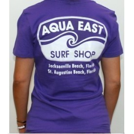 Aqua East Surf Shop Ladies Basic T-Shirt Thumbnail