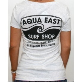 Aqua East Ladies Original Logo Scoop Tee Thumbnail