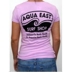 Aqua East Orginal Ladies V-Neck T-Shirt Thumbnail
