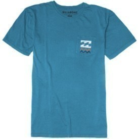 Billabong Mens Backstop SS Washed Blu T-Shirt Thumbnail