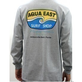 Aqua East Surf Shop Original Logo Mens LS Tee Thumbnail