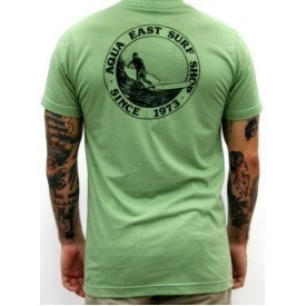 Aqua East Surf Shop Sandy Logo T-Shirt Mens Thumbnail