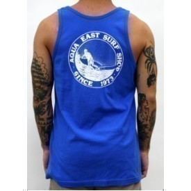 Aqua East Surf Shop Sandy Logo Mens Tank Thumbnail