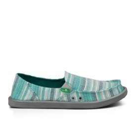 Sanuk Women Donna Caroline Teal Shoe Thumbnail