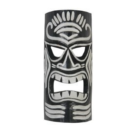Black and White Tiki Mask Thumbnail