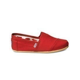 Toms Men Classic Red Canvas Shoes Thumbnail