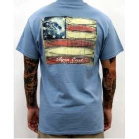 Aqua East Surf Shop Americana Mens T-Shirt Thumbnail