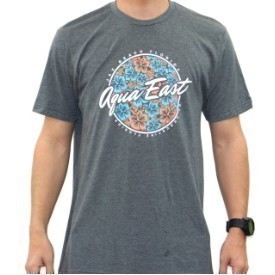 Aqua East Mens Floral T-Shirt Thumbnail