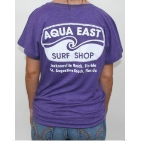 Aqua East Original Logo Ladies Dolman T-Shirt Thumbnail