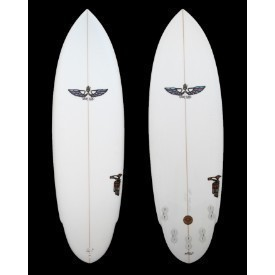 VonSol Surfboard 5'8 Clear 5 Fin Shadow Thumbnail