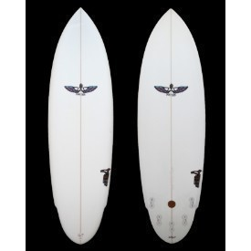 VonSol Surfboard 6'6 Clear 5 Fin Shadow Thumbnail