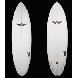 VonSol Surfboards 6'8 Clear 5Fin Shadow Thumbnail