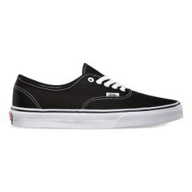 Vans Authentic Black White Shoes Thumbnail